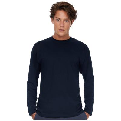 Image of B&C Men's Exact 150 Long Sleeve T Shirt