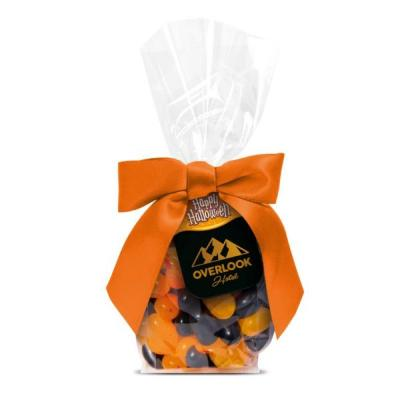Image of Halloween Jelly Beans Presented In A Gift Bag With Printed Tag